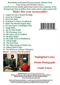 Sing Along with Holiday Classics Music Video - Back Cover
