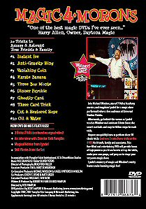 Magic 4 Morons DVD - back